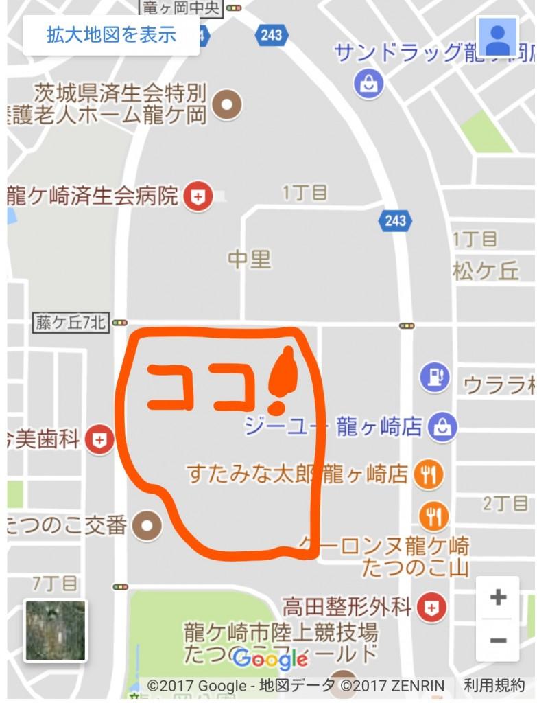 たつのこまち龍ケ崎モール地図