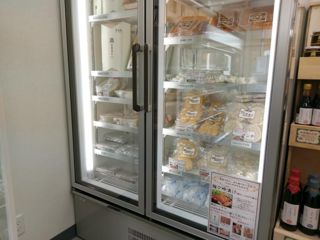 たつのこ産直市場 冷凍ケース