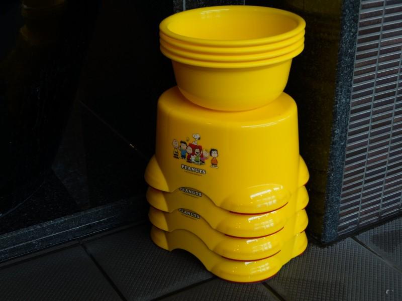 湯舞音 大浴場 子供いす&洗面器